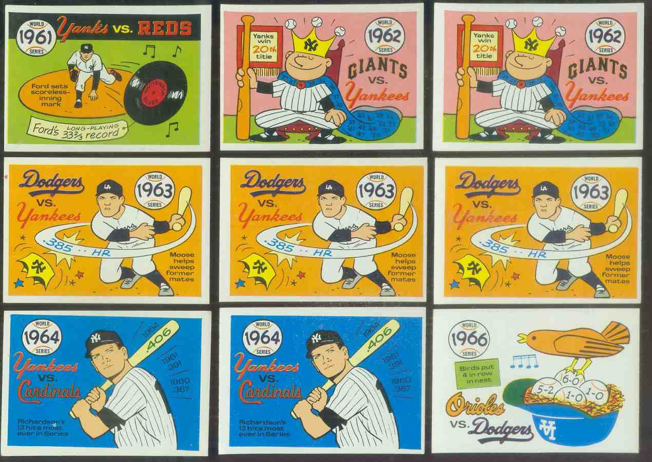 1968 Laughlin World Series #60 1963 Dodgers/Yankees (Moose Skowron) Baseball cards value