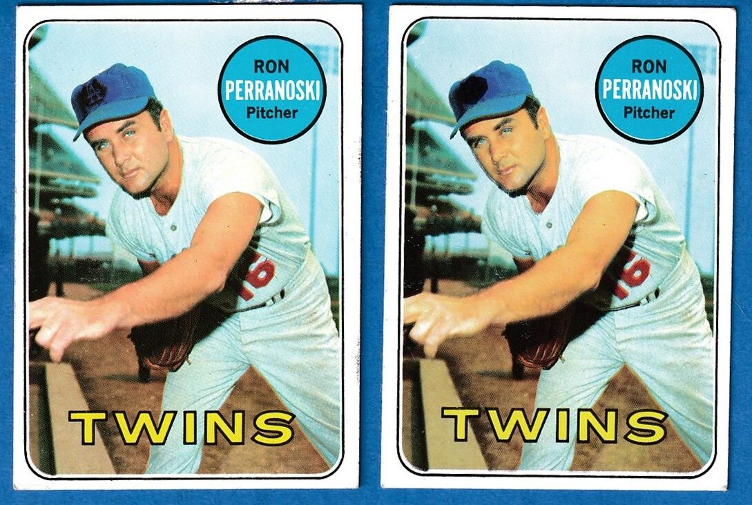 1969 Topps #.77-B Ron Perranoski SCARCE ERROR VARIATION (Dodgers) Baseball cards value