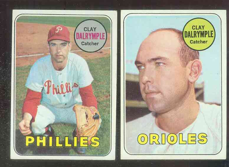 1969 Topps #151 Clay Dalrymple Lot [#asc] BOTH VARIATIONS !!! Baseball cards value