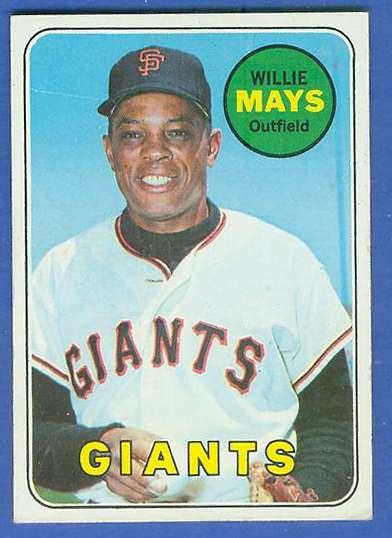 1969 Topps 190 Willie Mays A Giants