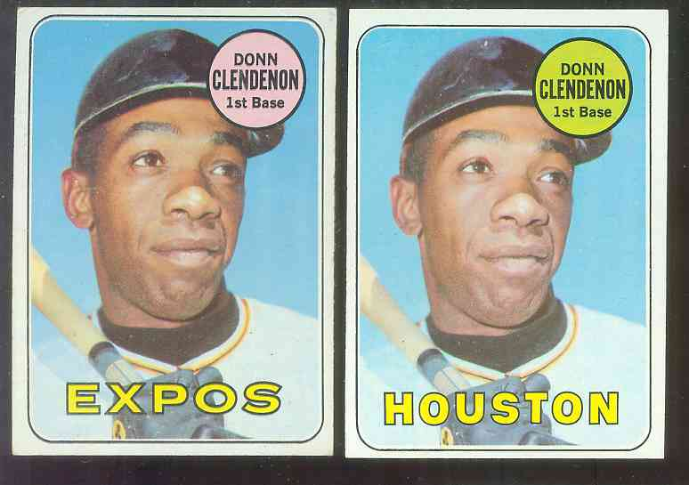 1969 Topps #208B Donn Clendenon SCARCE VARIATION (Expos) Baseball cards value