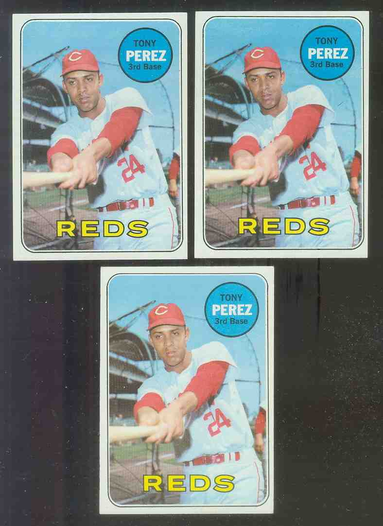1969 Topps #295 Tony Perez [#c] (Reds) Baseball cards value