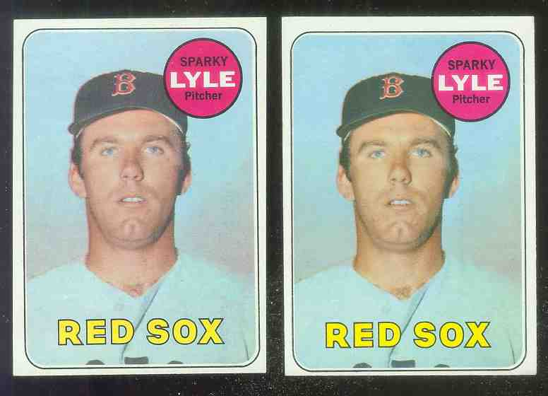 1969 Topps #311 Sparky Lyle ROOKIE [#a] (Red Sox) Baseball cards value