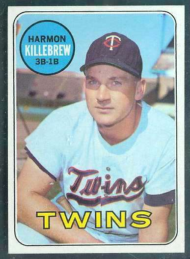 1969 Topps #375 Harmon Killebrew [#a] (Twins) Baseball cards value