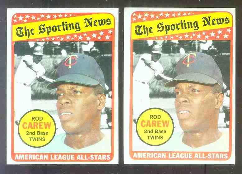1969 Topps #419 Rod Carew All-Star (Twins, Hall-of-Famer) Baseball cards value