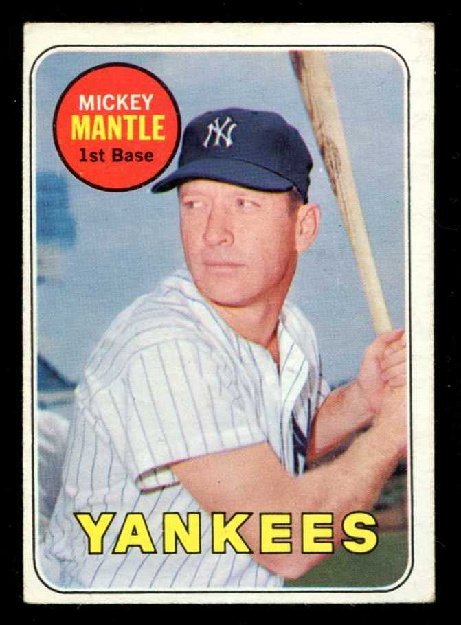 1969 Topps #500-A Mickey Mantle (Yankees) Baseball cards value