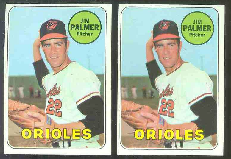 1969 Topps #573 Jim Palmer [#a2] (Orioles) Baseball cards value