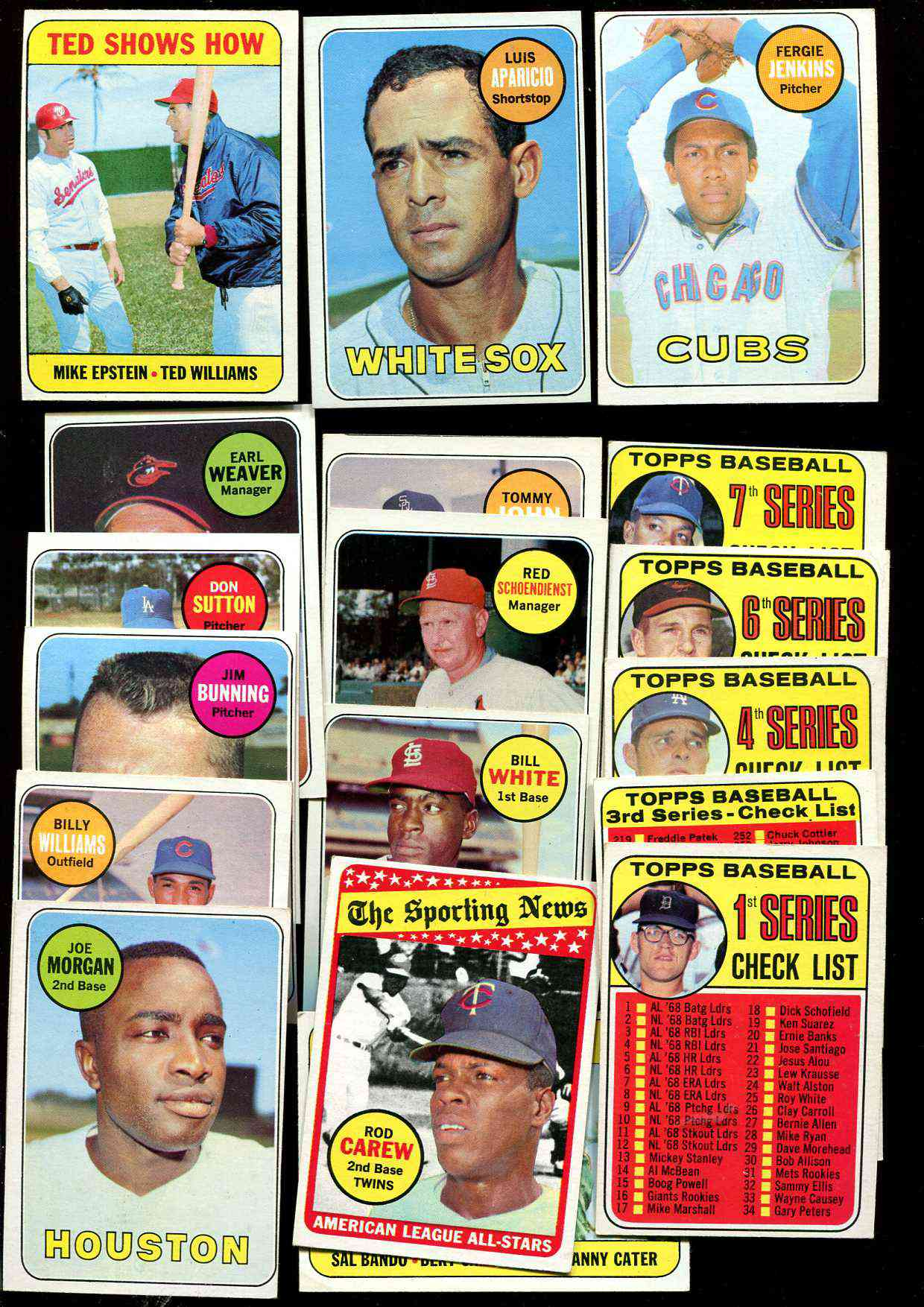 1969 Topps  -  Lot (215+) diff. with Hall-of-Famers,High Numbers & MORE ! Baseball cards value