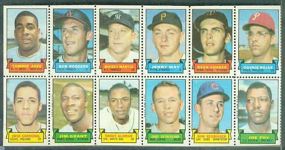 1969 Topps STAMP PANEL [h]- MICKEY MANTLE !!! Baseball cards value
