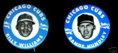 1970 Sunoco CUBS Pins #9 Billy Williams Baseball cards value