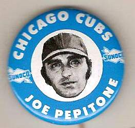 1970 Sunoco CUBS Pins #7 Joe Pepitone Baseball cards value