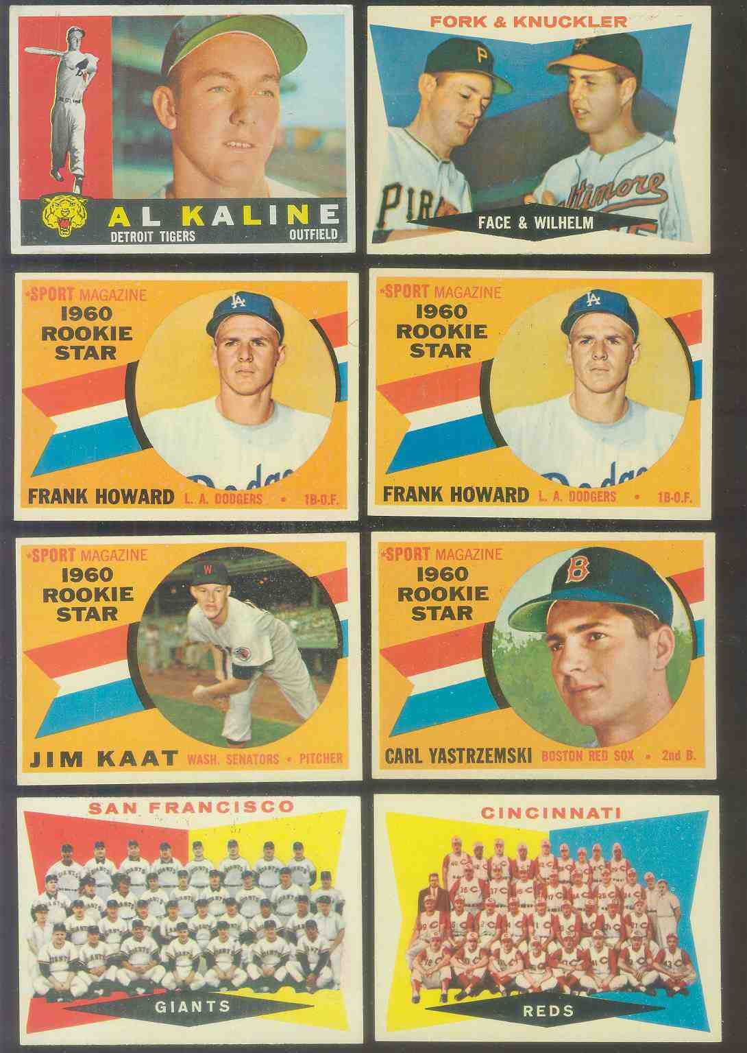 1960 Topps #132 Frank Howard ROOKIE [#c] (Dodgers) Baseball cards value
