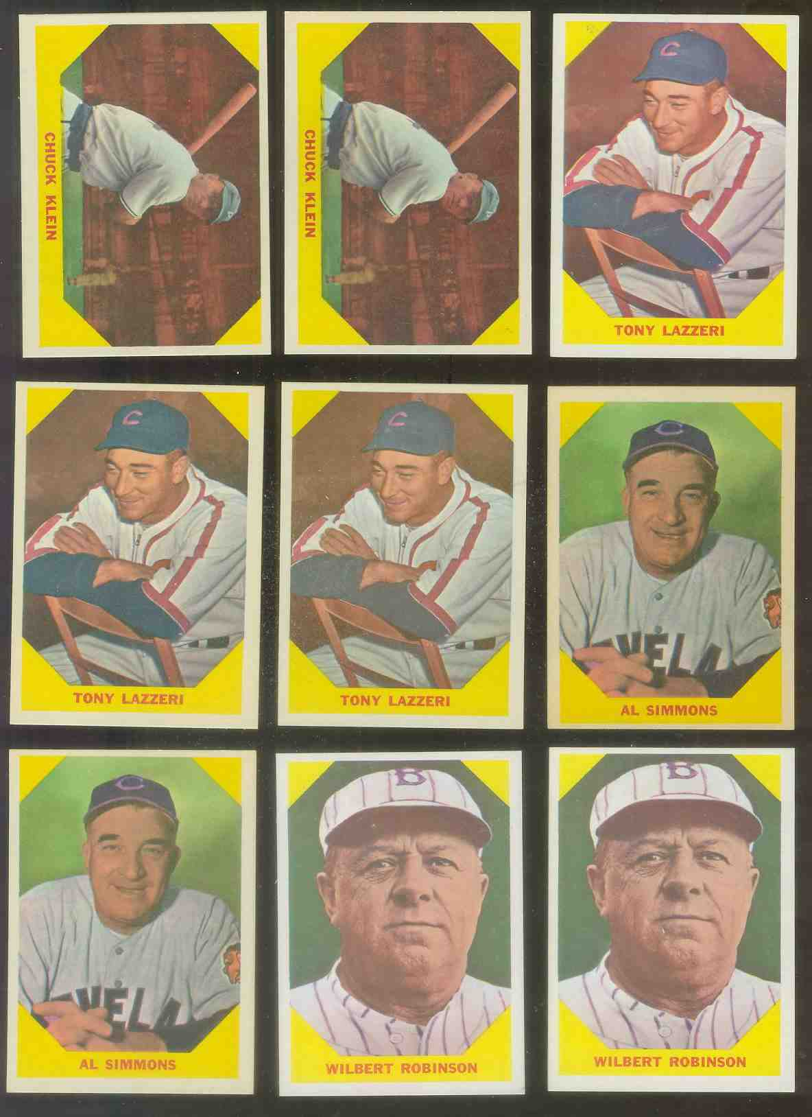1960 Fleer #.31 Tony Lazzeri (Yankees) Baseball cards value