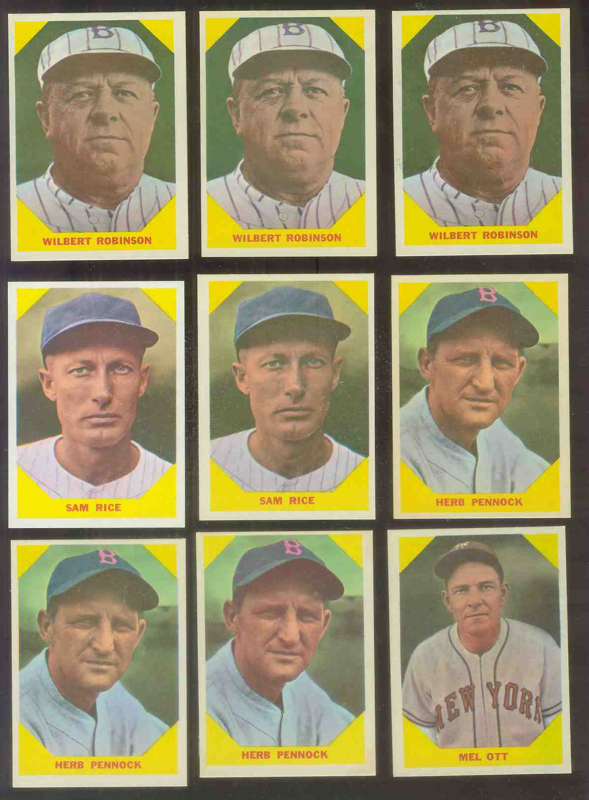 1960 Fleer #.35 Herb Pennock (Boston Braves) Baseball cards value