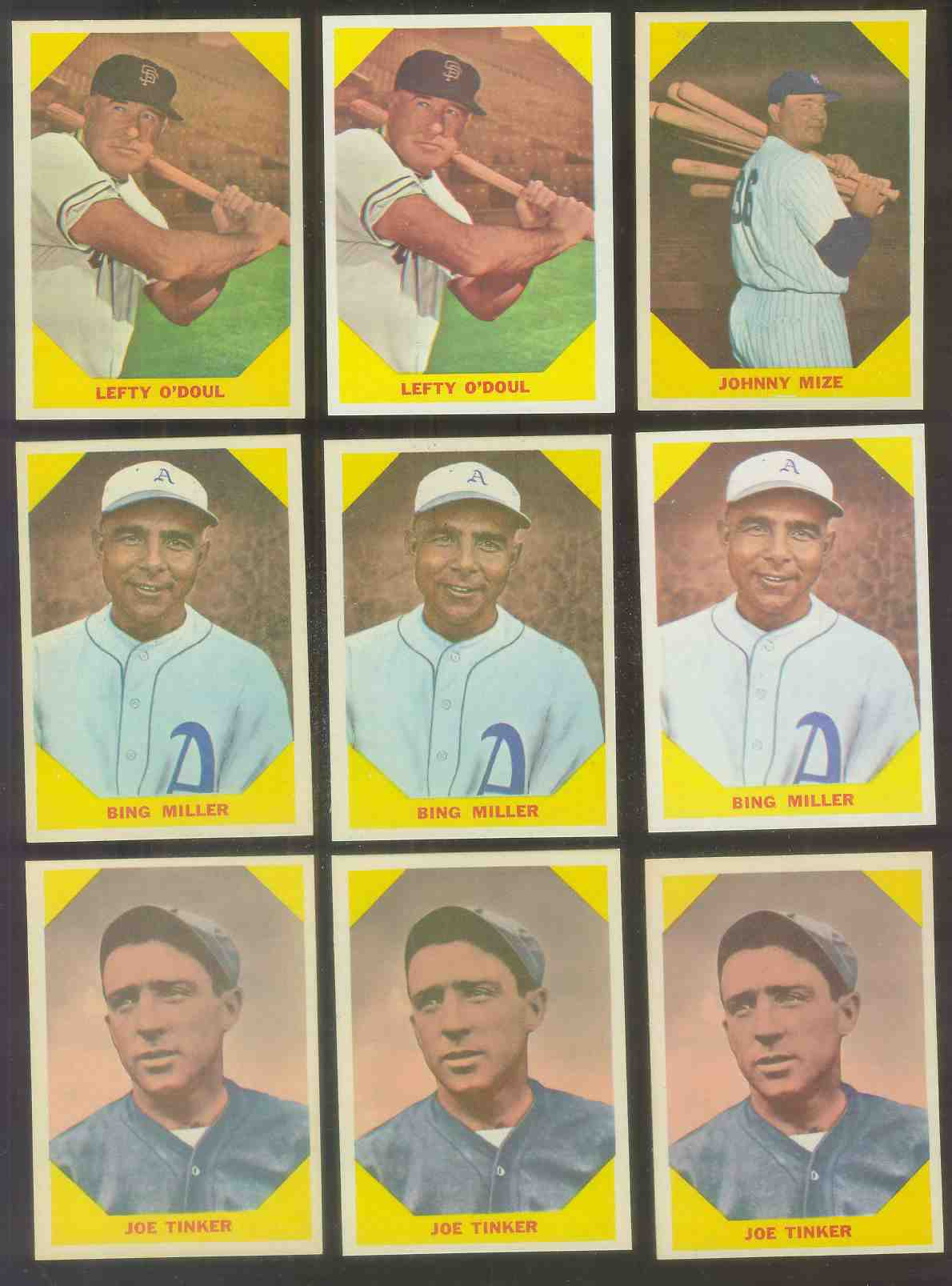 1960 Fleer #.40 Joe Tinker (Cubs) Baseball cards value