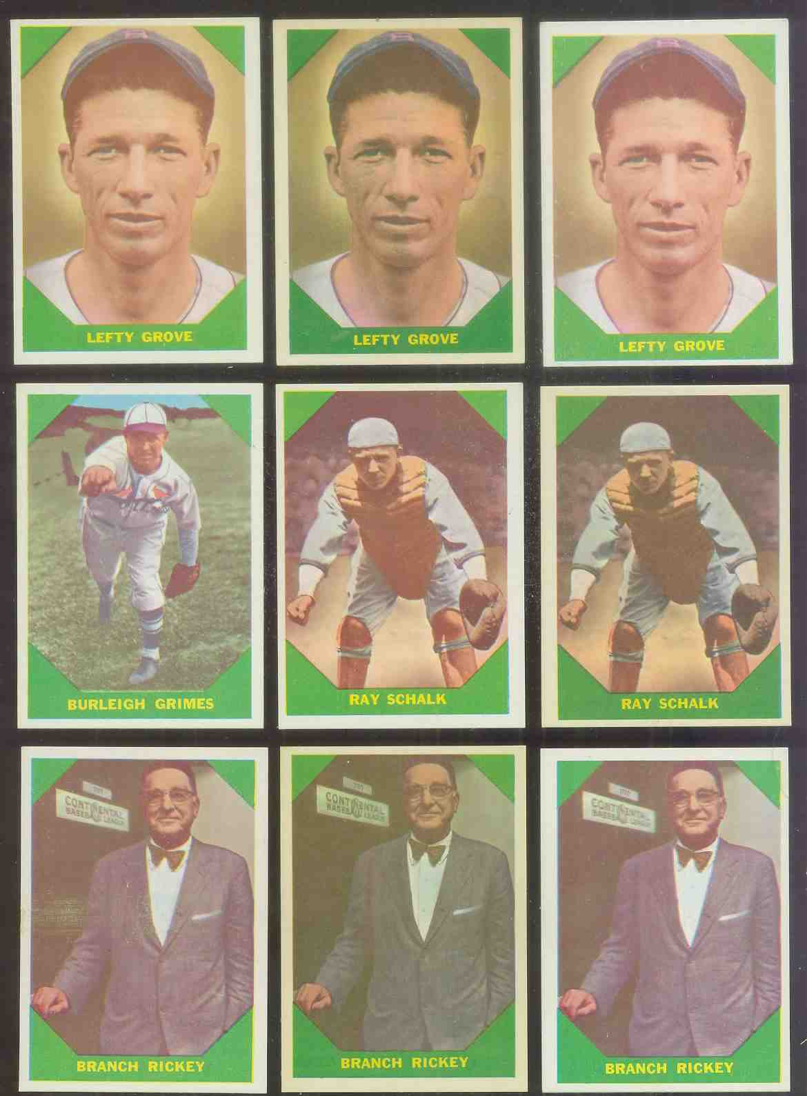 1960 Fleer #.56 Ray Schalk Baseball cards value