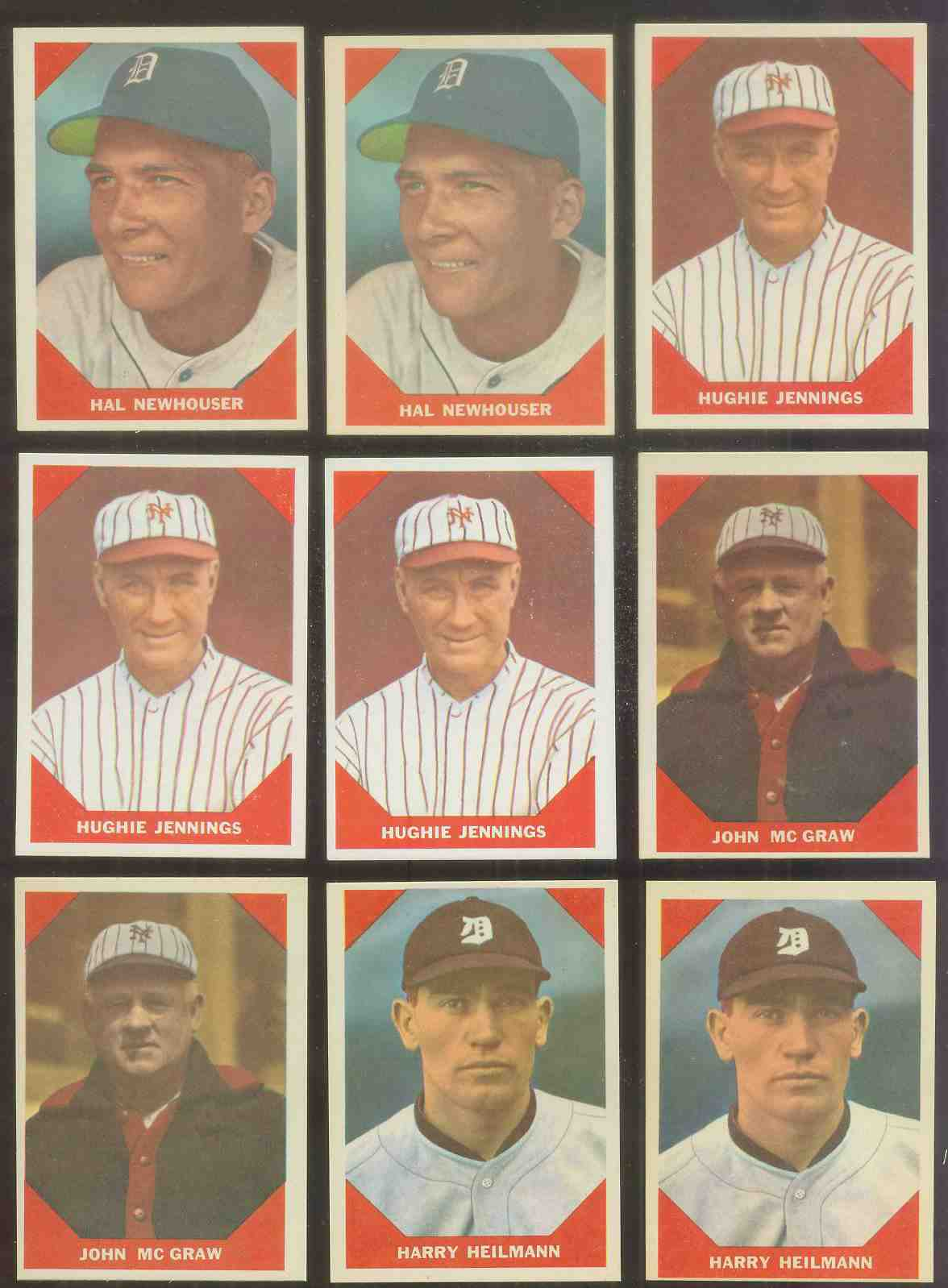 1960 Fleer #.67 Hughie Jennings (Giants) Baseball cards value