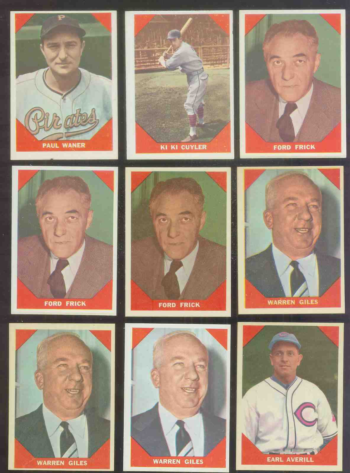 1960 Fleer #.73 Warren Giles N.L. President Baseball cards value