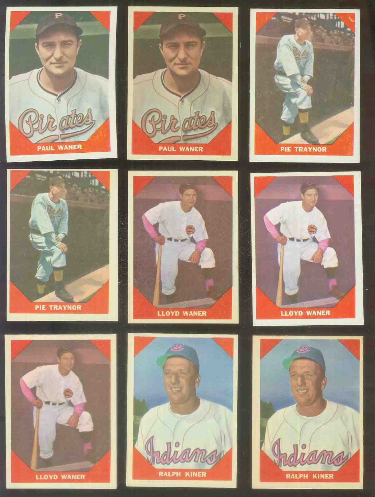 1960 Fleer #.77 Pie Traynor (Pirates) Baseball cards value