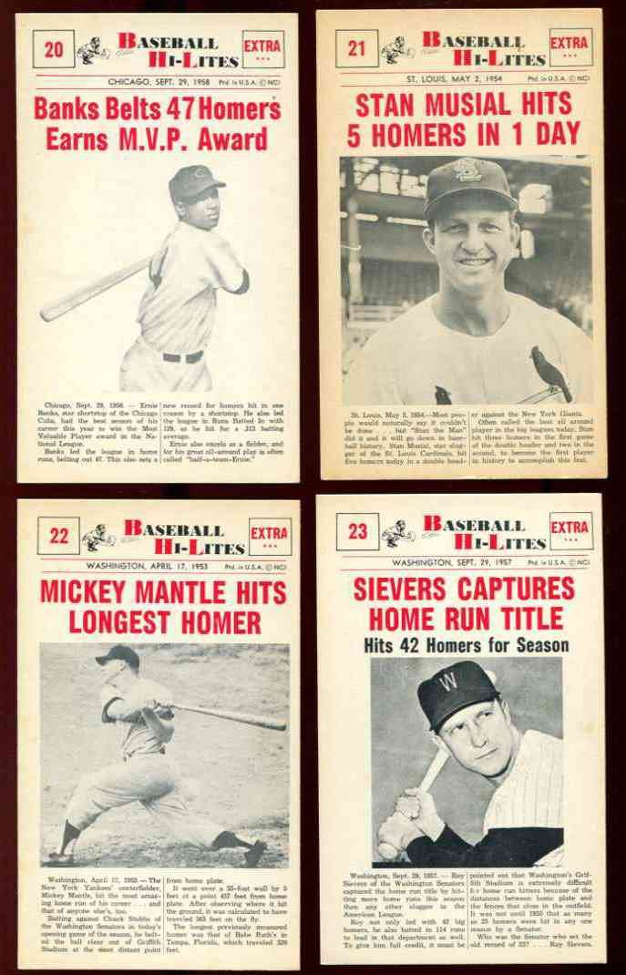 1960 Nu-Card Hi-Lites #22 Mickey Mantle - 'Hits Longest Homer' [#x] Baseball cards value