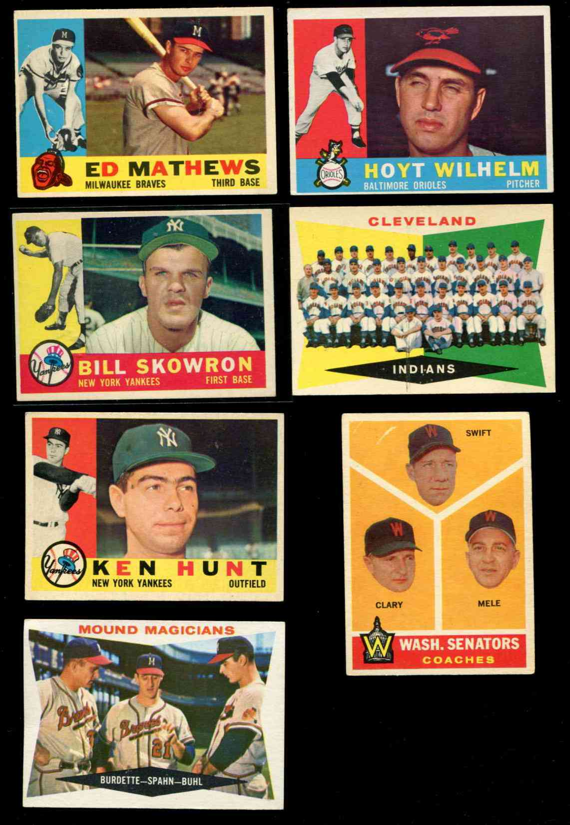 1960 Topps #420 Eddie Mathews (Braves) Baseball cards value