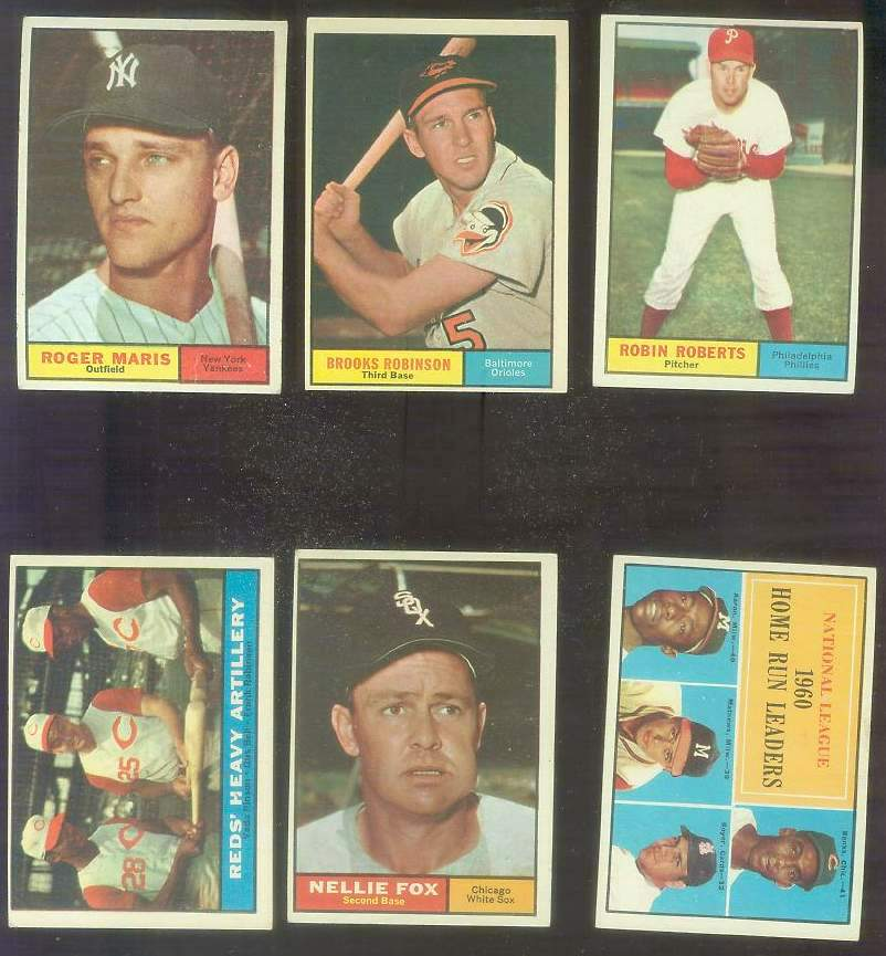 1961 Topps #.43 N.L. Home Run Leaders [#x] (w/Hank Aaron/Ernie Banks) Baseball cards value