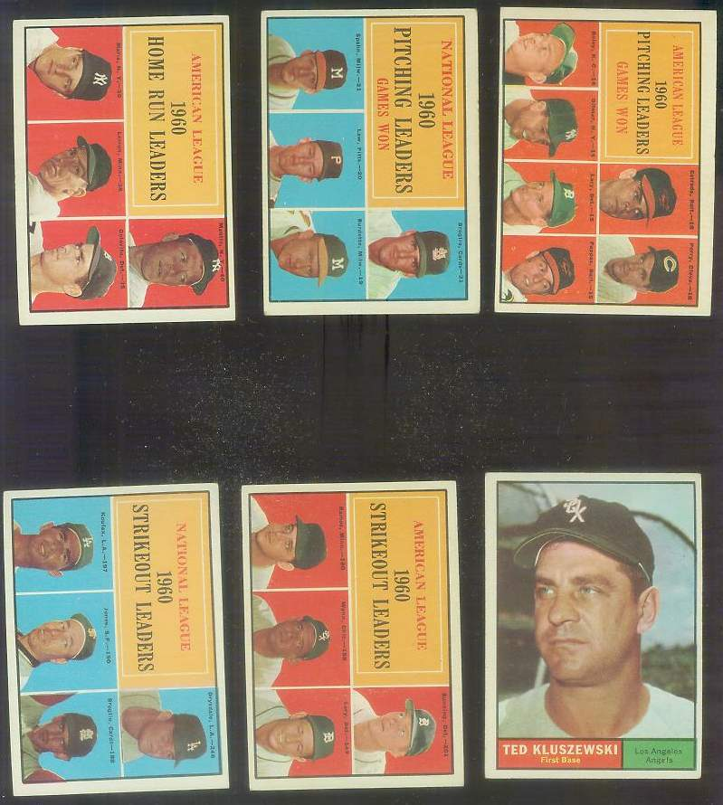 1961 Topps #.49 N.L. Strikeout Leaders [#x] (Don Drysdale/Sandy Koufax) Baseball cards value