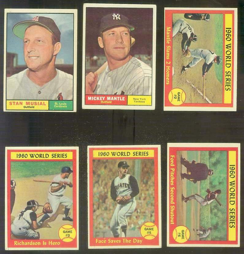1961 Topps #307 Mickey Mantle - World Series Game #2 [#x] Baseball cards value