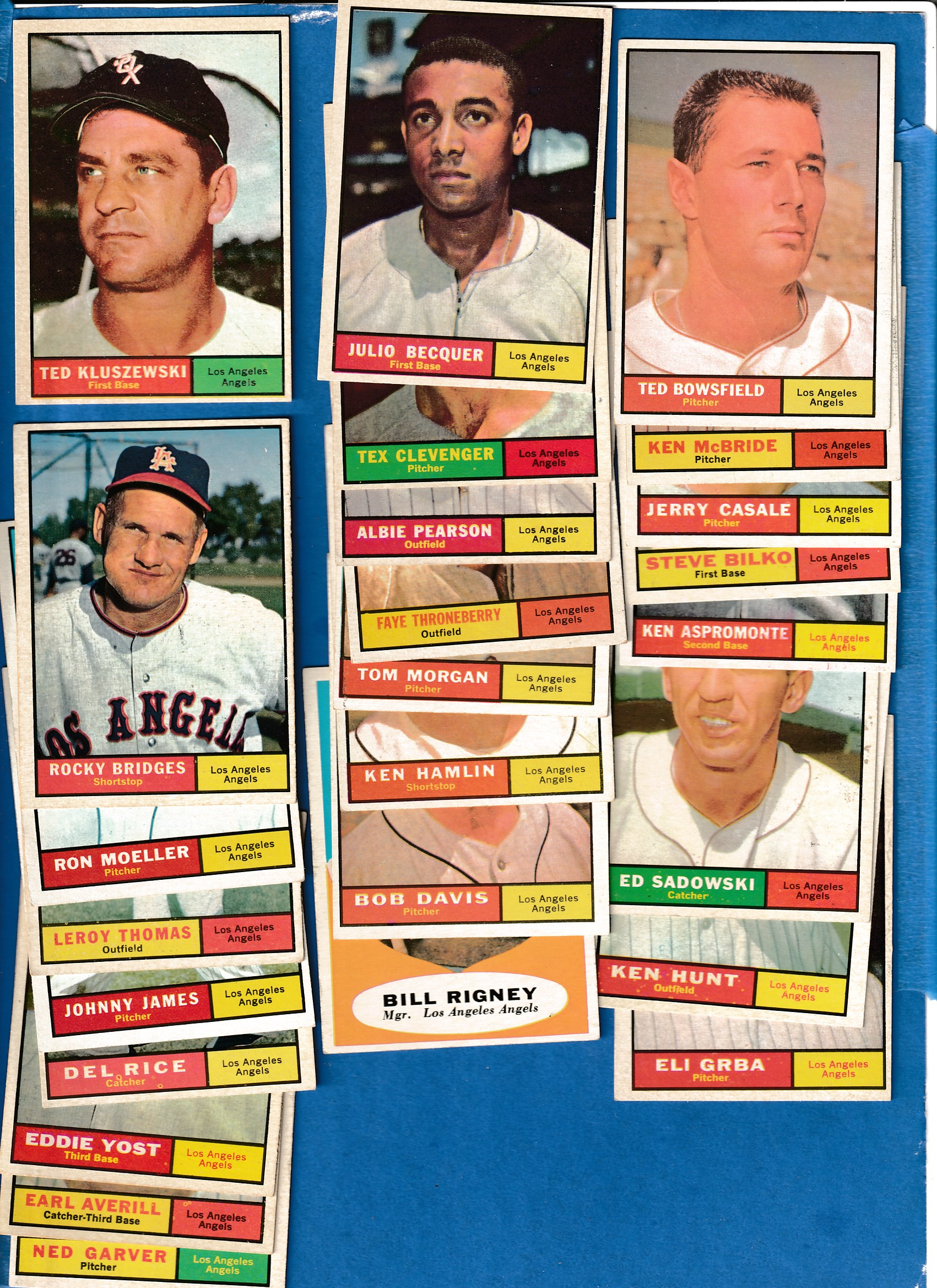 1961 Topps  - ANGELS (Los Angeles) - Near Complete LOW# TEAM SET (25/27) Baseball cards value