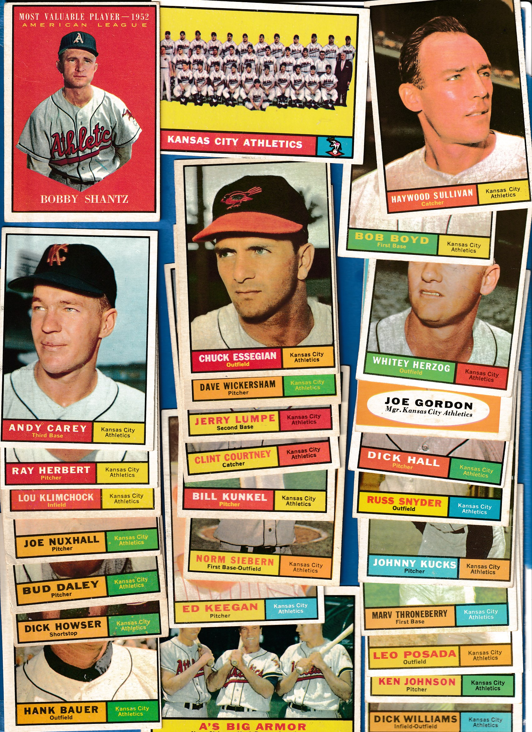 1961 Topps  - A's (Kansas City) - Near Complete LOW# TEAM SET (27/28 + 2) Baseball cards value