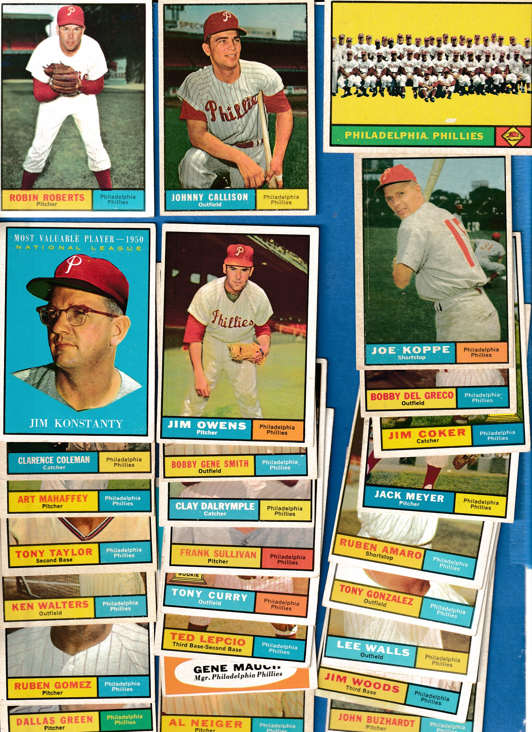 1961 Topps  - PHILLIES COMPLETE LOW# TEAM SET (28 cards + 1) Baseball cards value