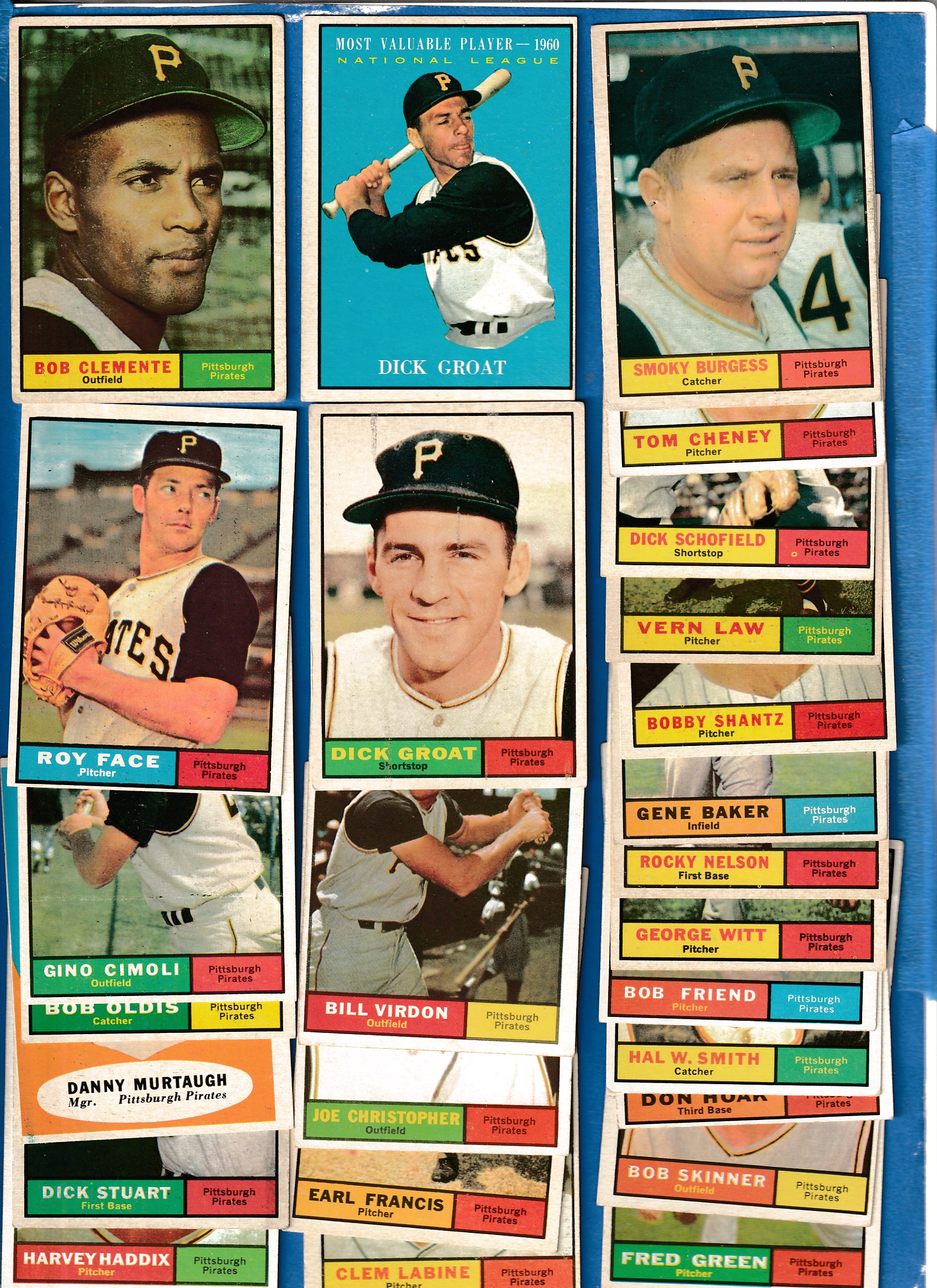 1961 Topps  - PIRATES - Near Complete LOW# TEAM SET (25/26 cards + 1) Baseball cards value