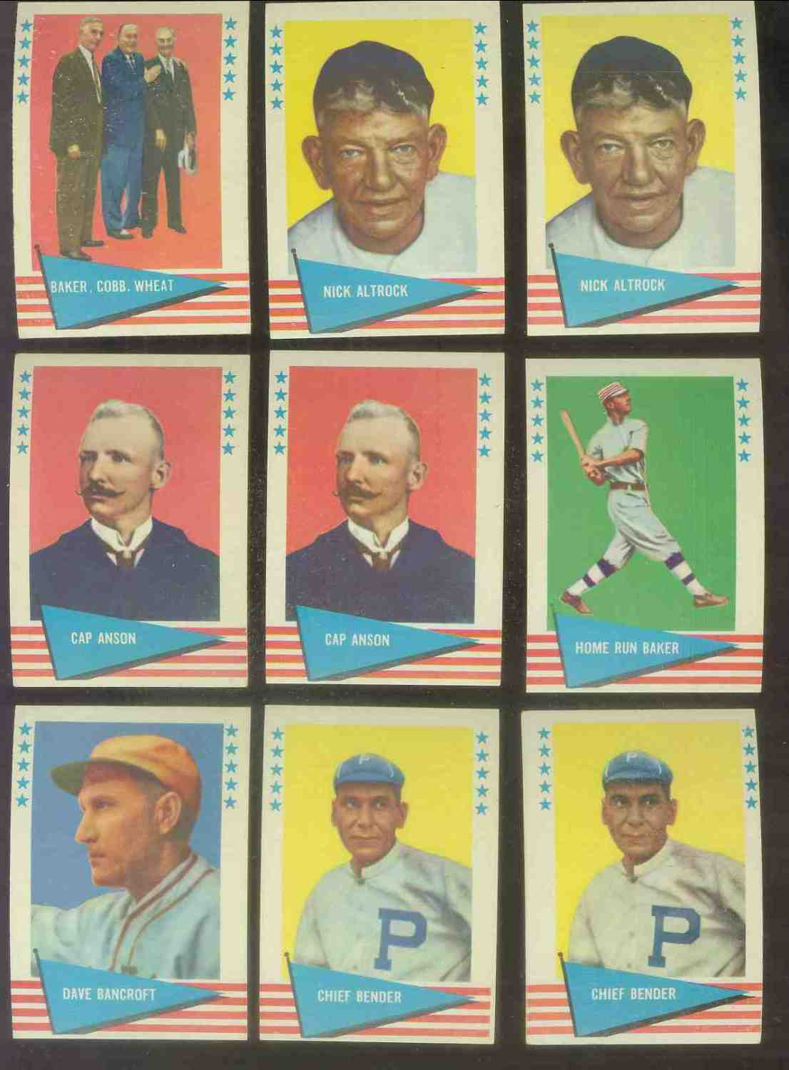 1961 Fleer #..3 Nick Altrock Baseball cards value