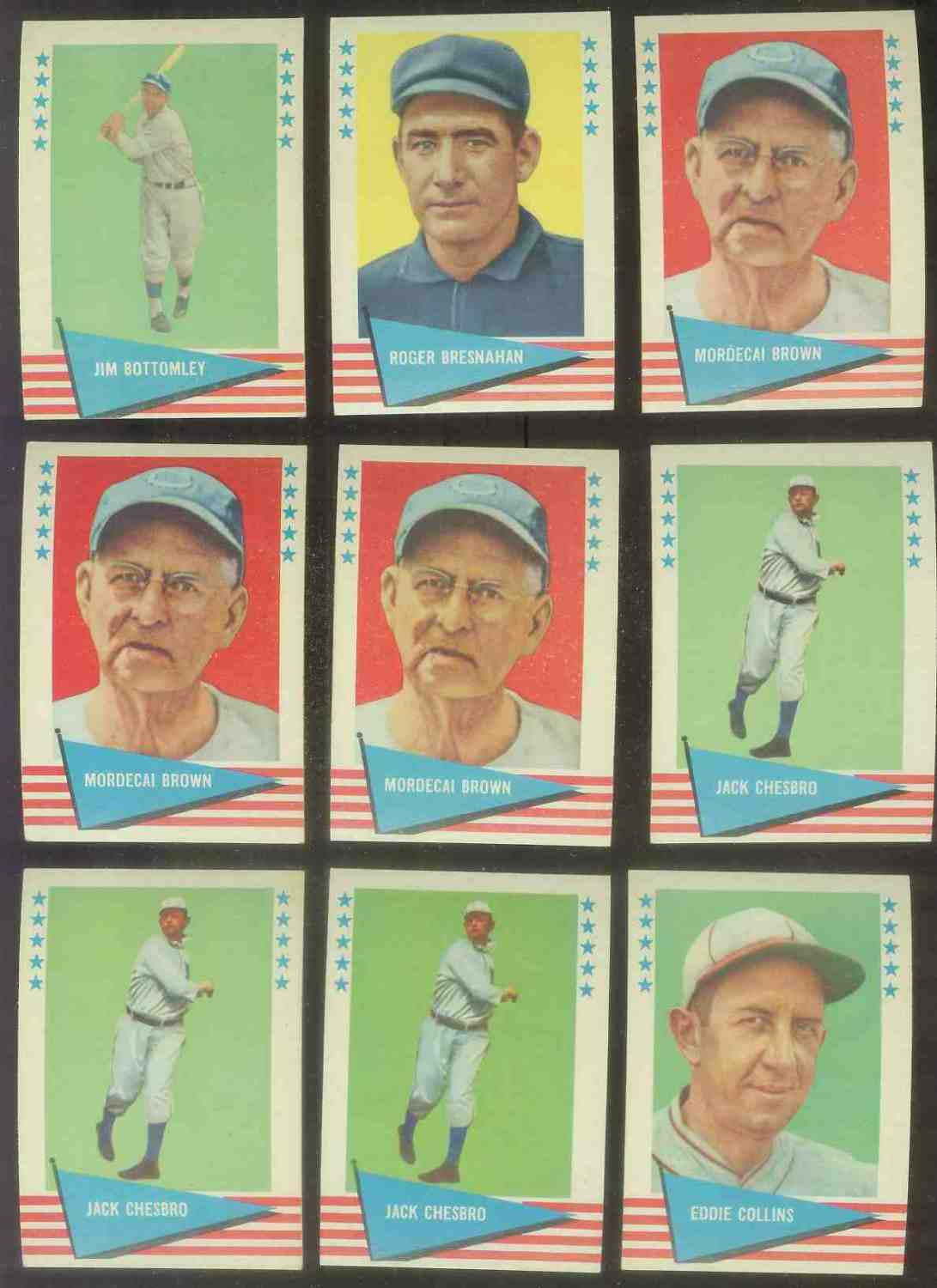 1961 Fleer #.16 Eddie Collins Baseball cards value