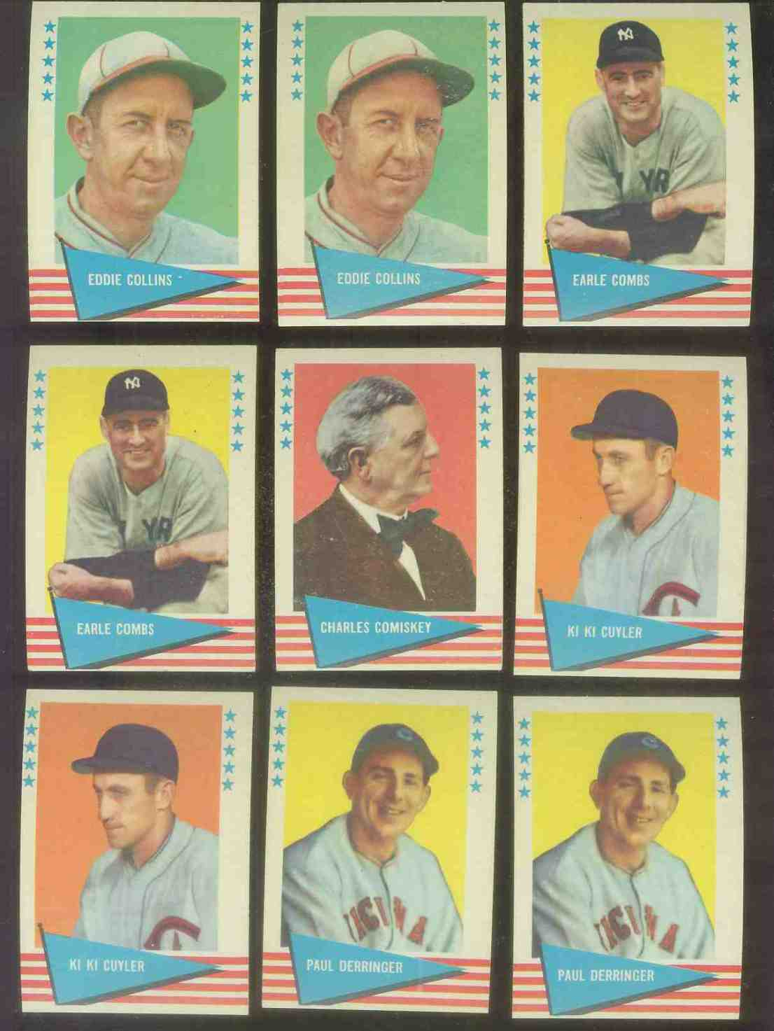 1961 Fleer #.18 Charles Comiskey Baseball cards value
