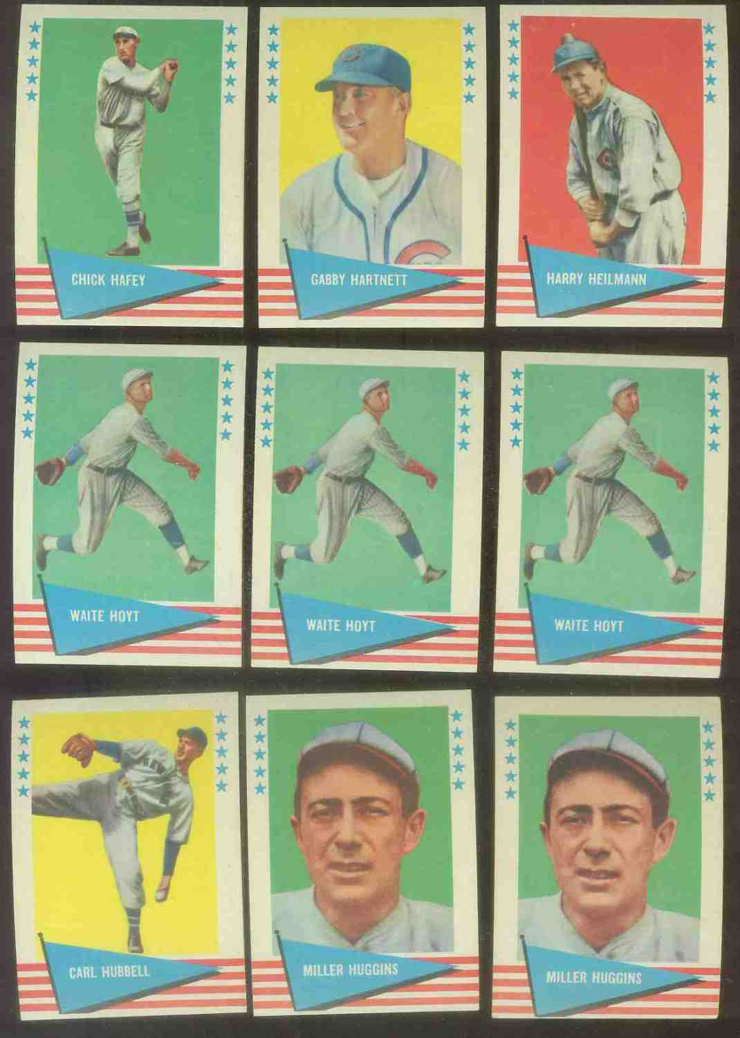 1961 Fleer #.42 Harry Heilmann (Cubs) Baseball cards value