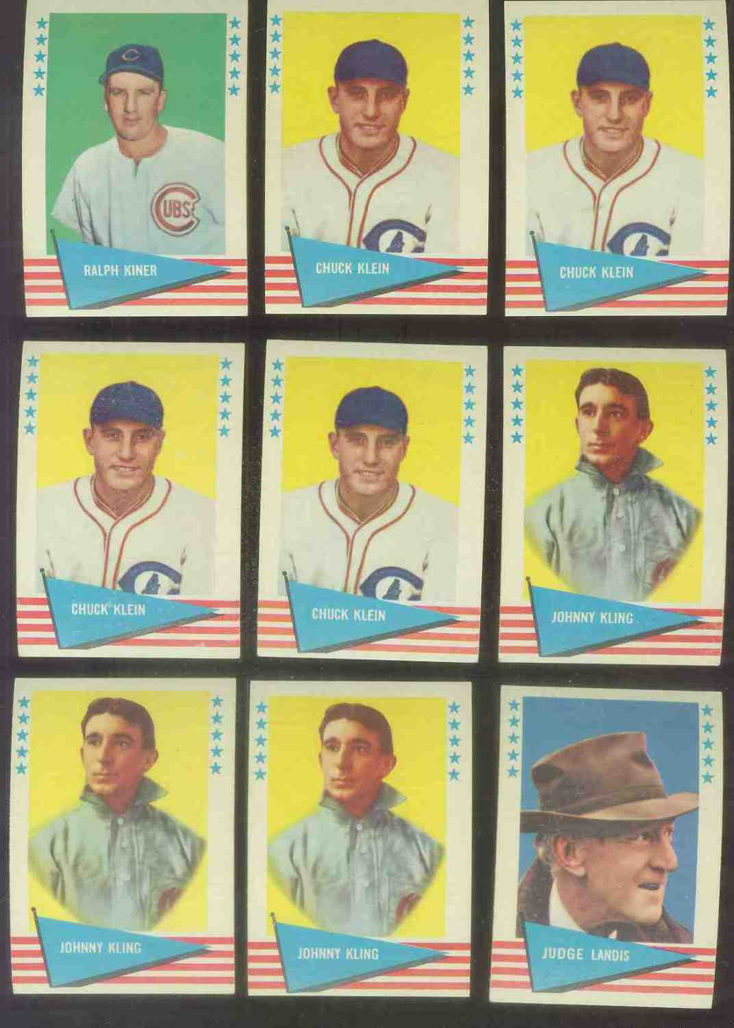 1961 Fleer #.51 Chuck Klein (Cubs) Baseball cards value