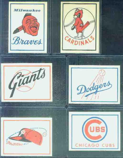1961 Fleer Team Logo Decals - St. Louis Cardinals Baseball cards value