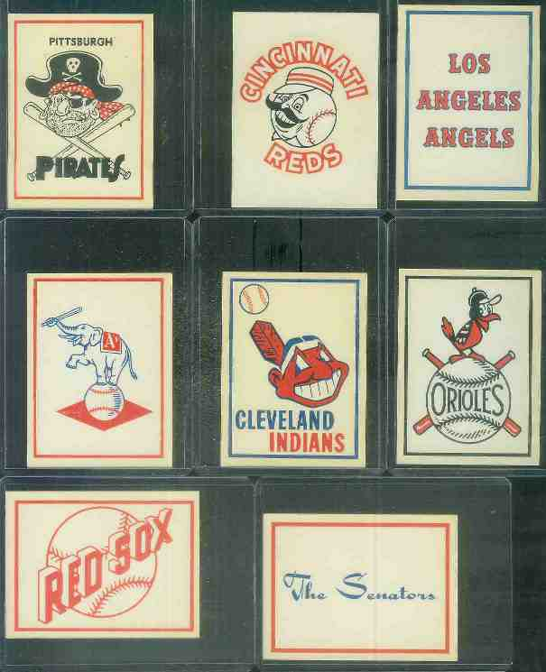 1961 Fleer Team Logo Decals - Cleveland Indians Baseball cards value