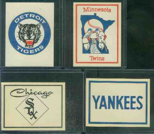 1961 Fleer Team Logo Decals - Detroit Tigers Baseball cards value