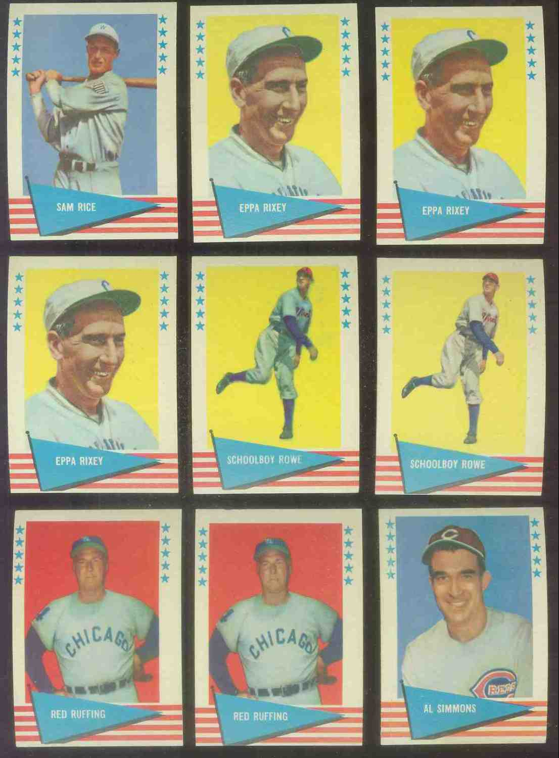 1961 Fleer #.77 Al Simmons (Reds) Baseball cards value