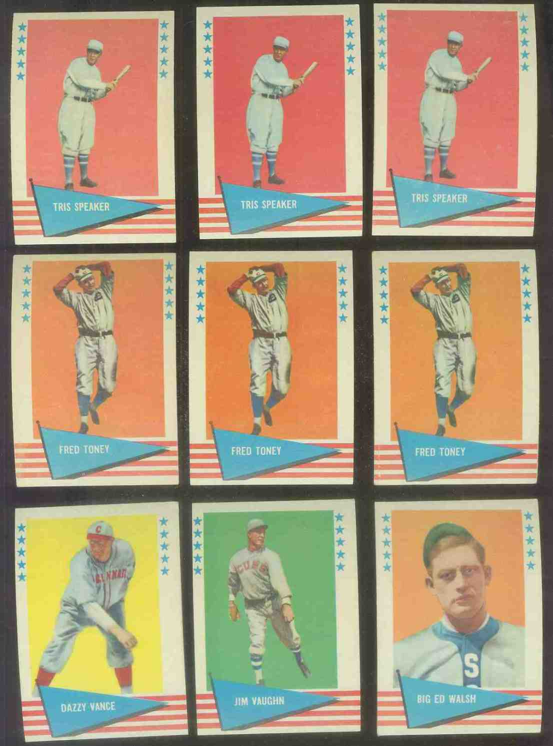 1961 Fleer #.79 Tris Speaker Baseball cards value