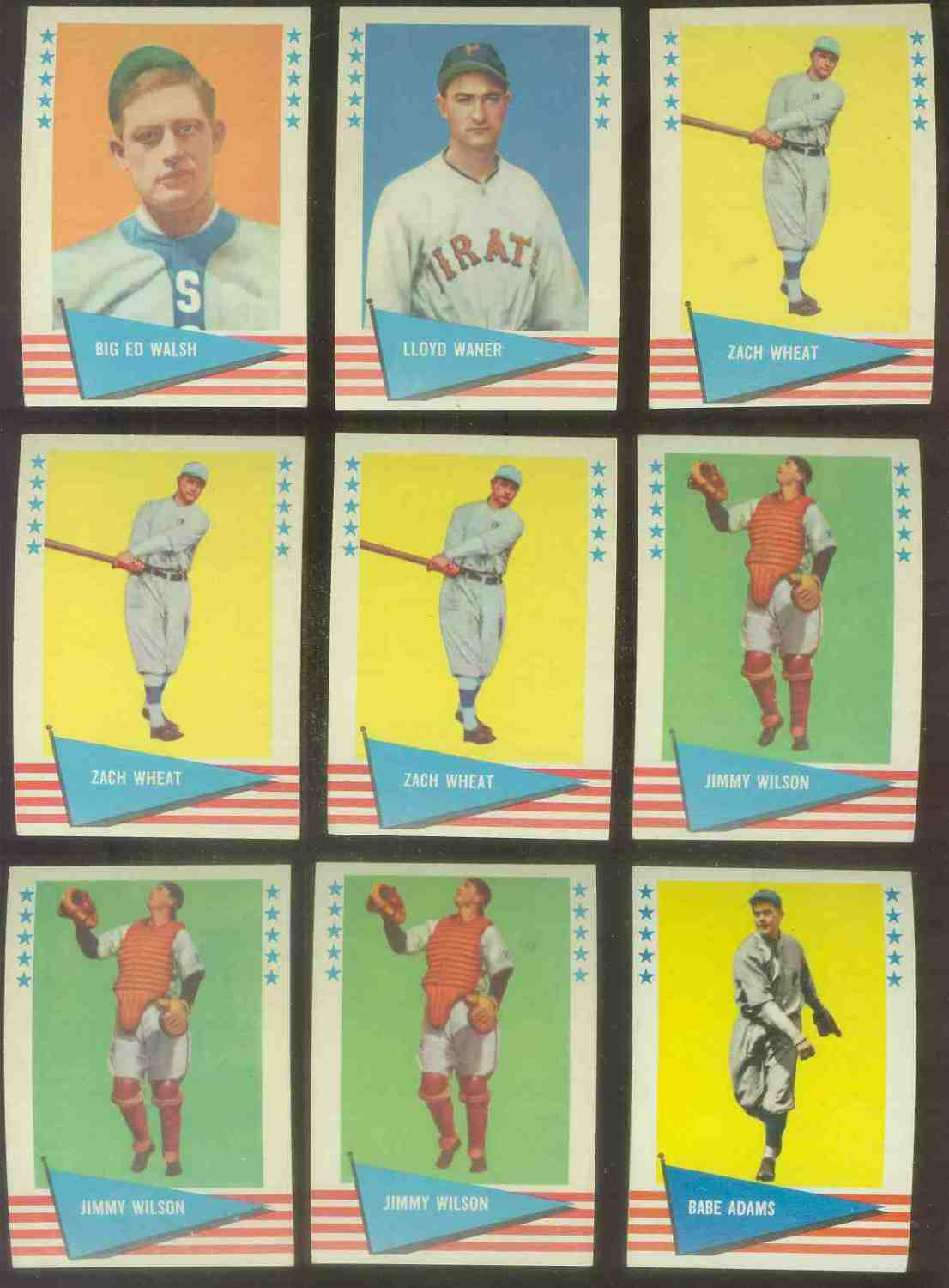 1961 Fleer #.86 Zack Wheat Baseball cards value
