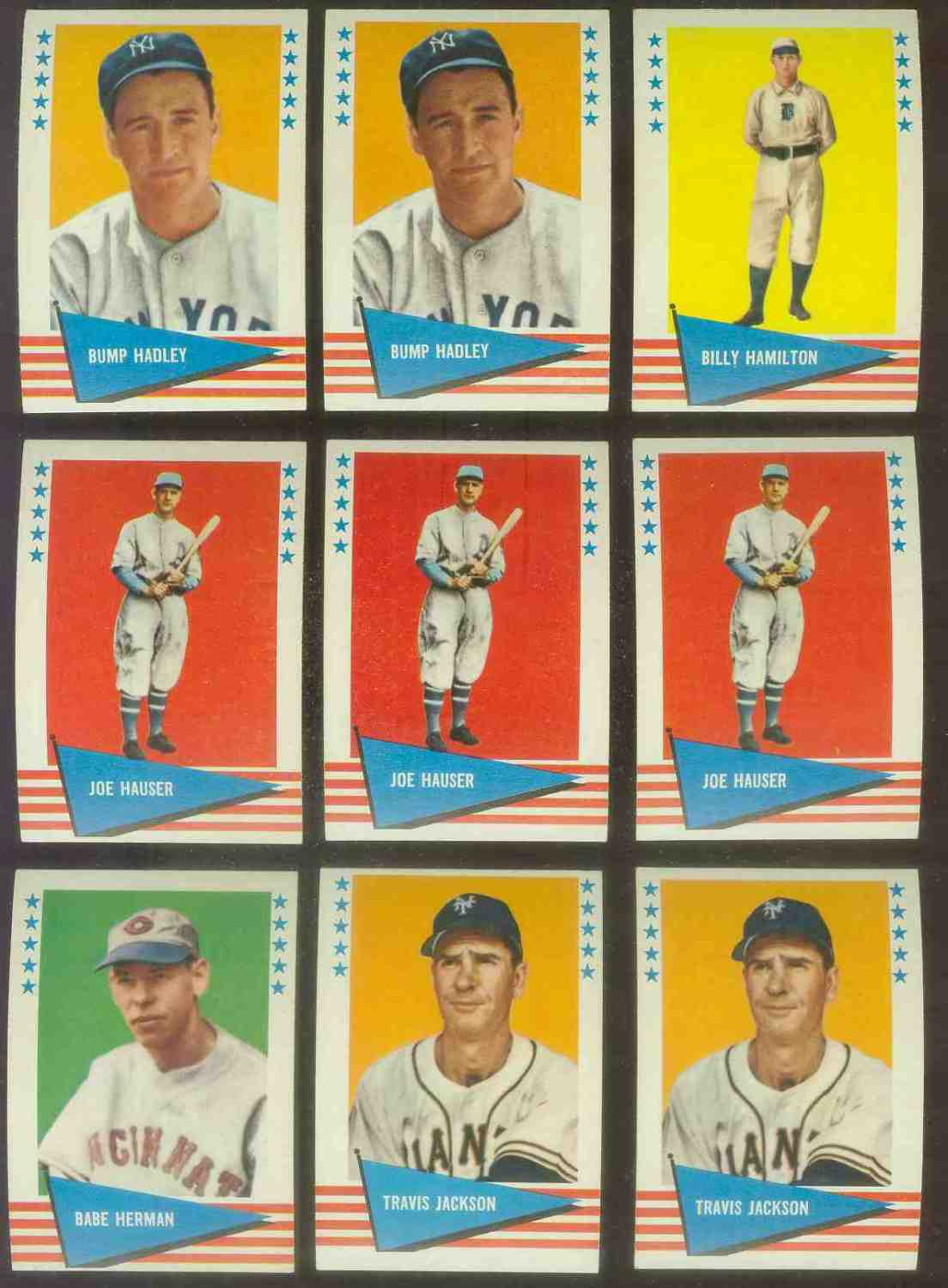 1961 Fleer #115 Travis Jackson SCARCE HIGH NUMBER (New York Giants) Baseball cards value