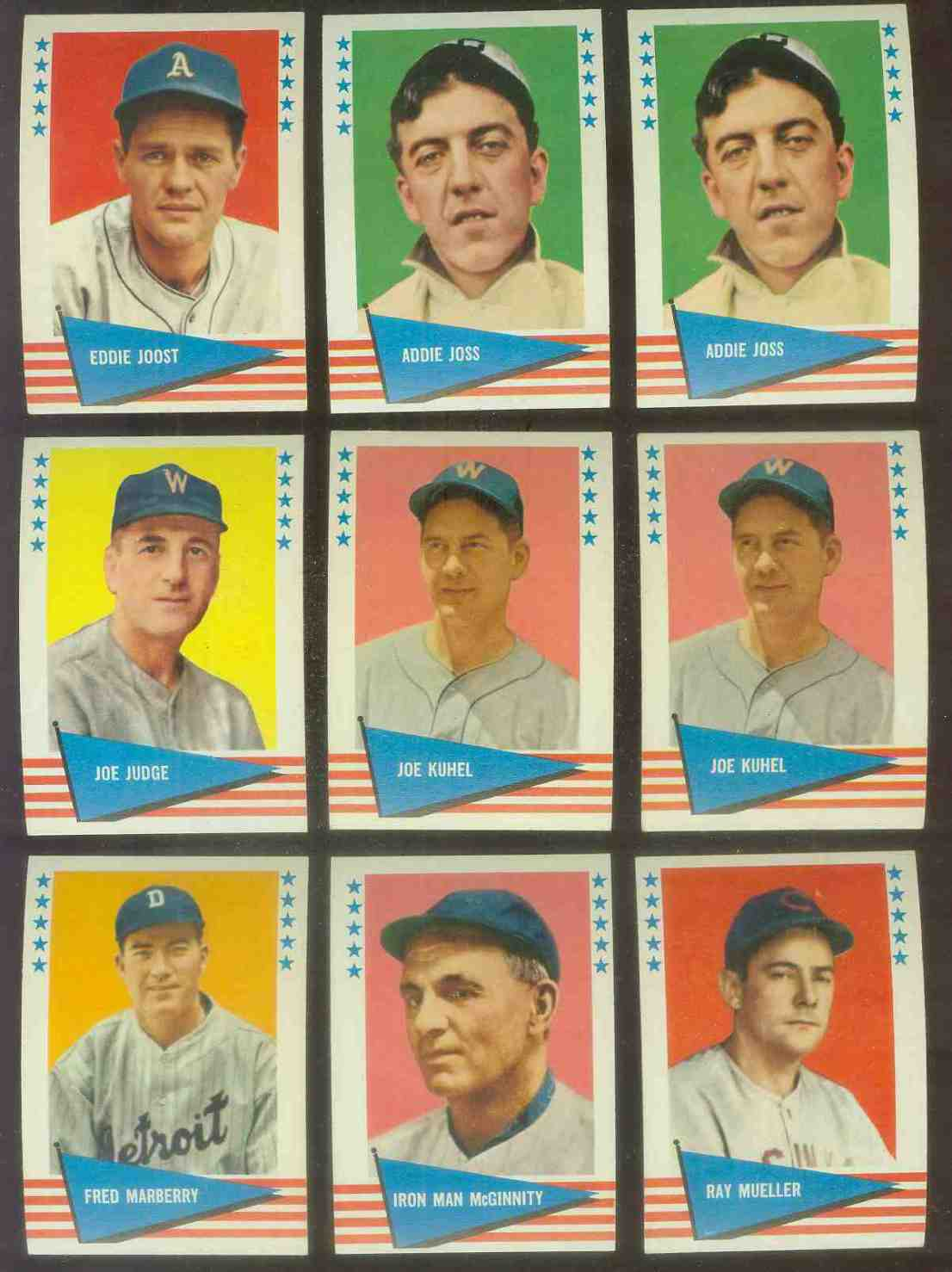 1961 Fleer #119 Joe Kuhel SCARCE HIGH NUMBER (Senators) Baseball cards value