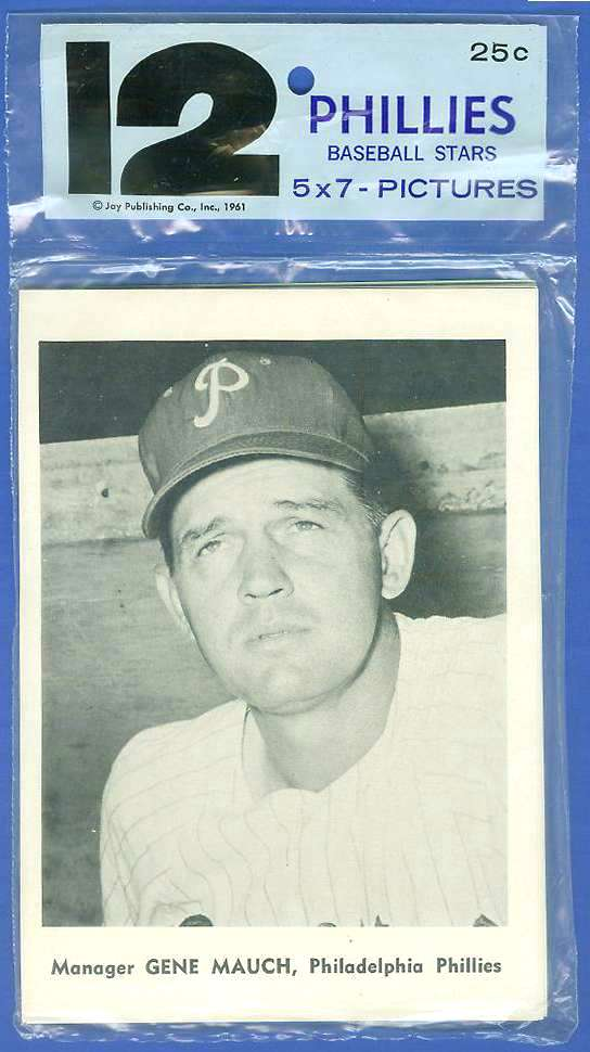 PHILLIES - 1961 Jay's Publishing Photos TEAM SET (12 cards) Baseball cards value