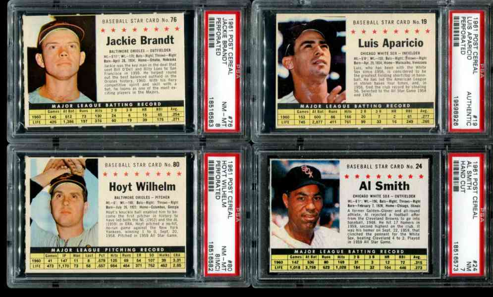 1961 Post #.19 Luis Aparicio  [COM] (White Sox) Baseball cards value