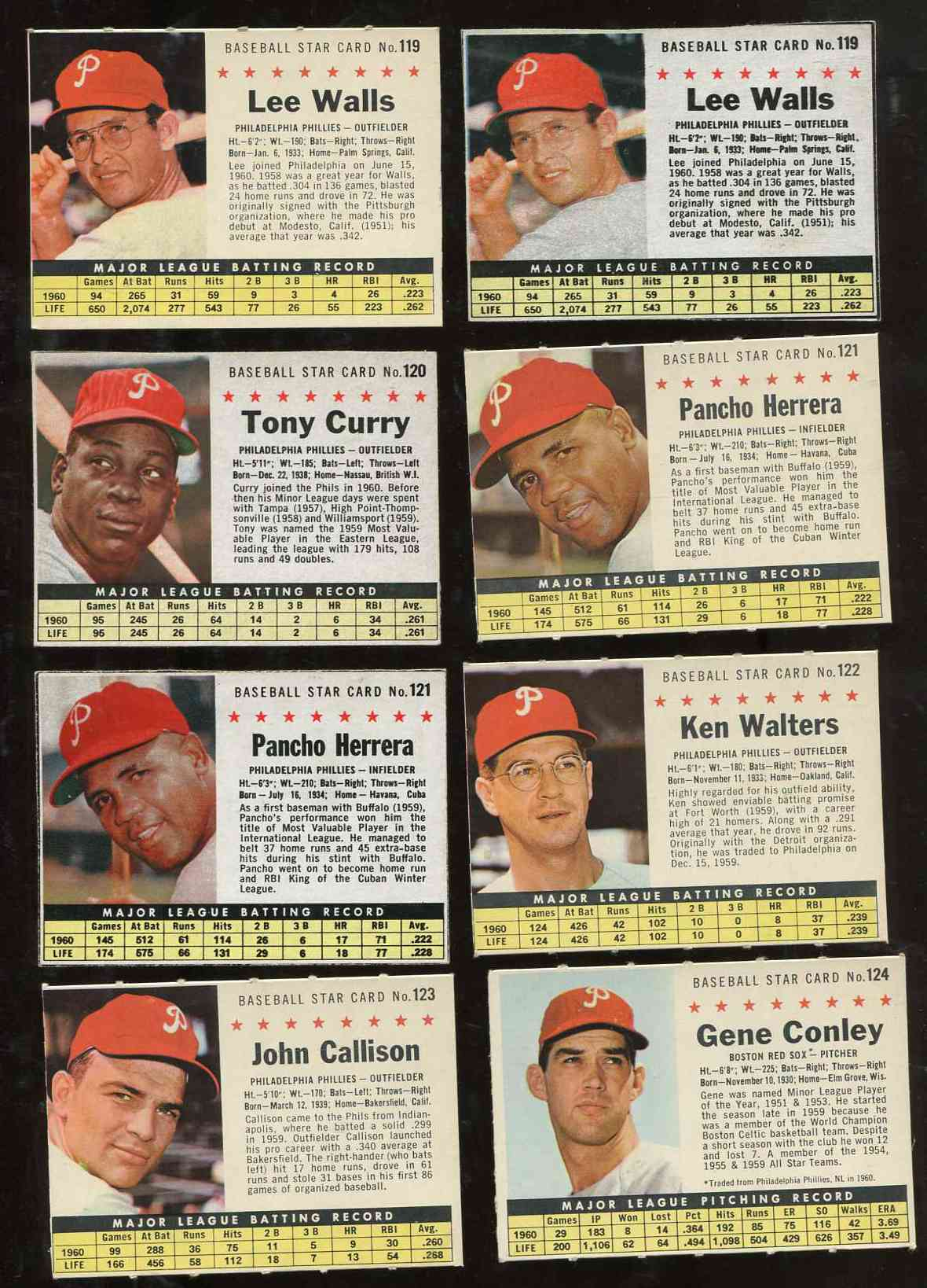 1961 Post #124 Gene Conley [COM,Red Sox w/Phillies Hat] Baseball cards value