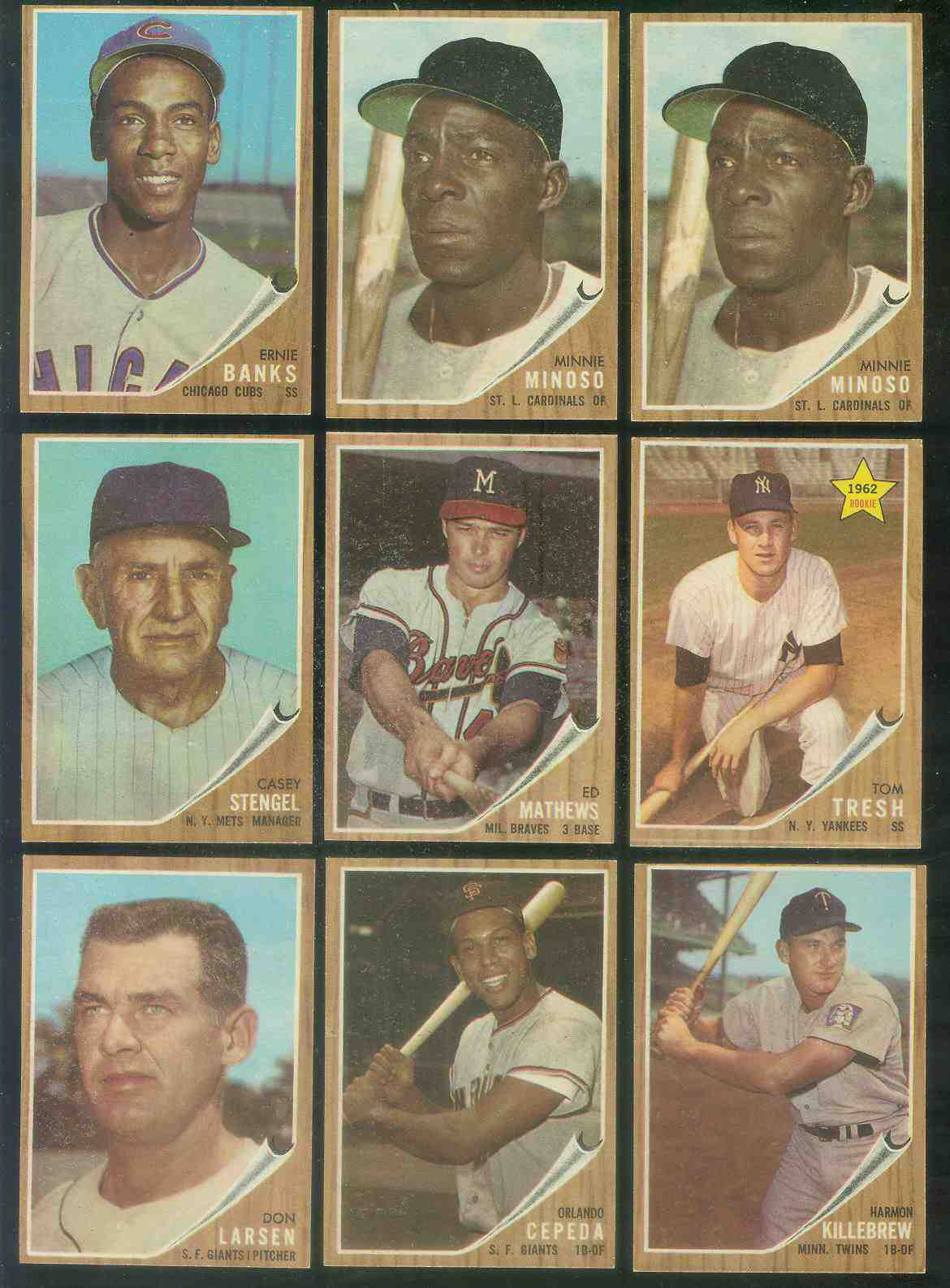 1962 Topps # 28 Minnie Minoso [#c] (Cardinals) Baseball cards value