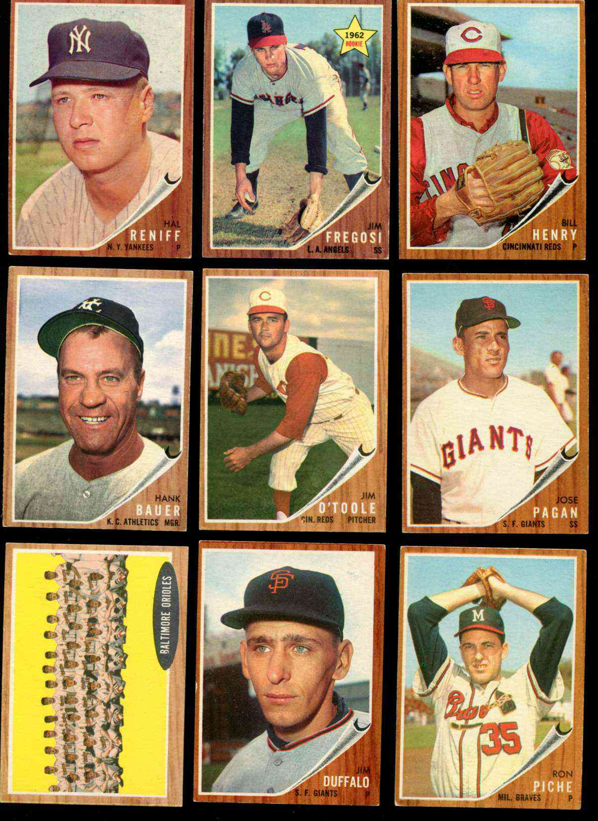 1962 Topps #450 Jim O'Toole [#x] (Reds) Baseball cards value